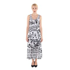 Panic! At The Disco Lyric Quotes Sleeveless Maxi Dress by Onesevenart
