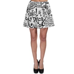 Panic! At The Disco Lyric Quotes Skater Skirt by Onesevenart