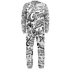 Panic! At The Disco Lyric Quotes Onepiece Jumpsuit (men)  by Onesevenart