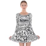 Panic! At The Disco Lyric Quotes Long Sleeve Skater Dress