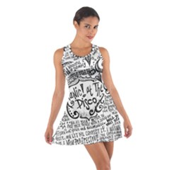 Panic! At The Disco Lyric Quotes Cotton Racerback Dress by Onesevenart