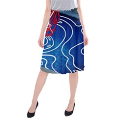 Panic! At The Disco Released Death Of A Bachelor Midi Beach Skirt by Onesevenart