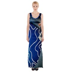 Panic! At The Disco Released Death Of A Bachelor Maxi Thigh Split Dress by Onesevenart
