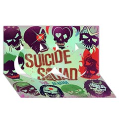 Panic! At The Disco Suicide Squad The Album Twin Hearts 3d Greeting Card (8x4) by Onesevenart