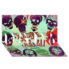 Panic! At The Disco Suicide Squad The Album Best Bro 3d Greeting Card (8x4) by Onesevenart