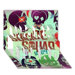 Panic! At The Disco Suicide Squad The Album Work Hard 3d Greeting Card (7x5) by Onesevenart