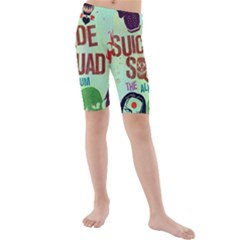 Panic! At The Disco Suicide Squad The Album Kids  Mid Length Swim Shorts by Onesevenart