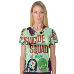 Panic! At The Disco Suicide Squad The Album Women s V Neck Sport Mesh Tee by Onesevenart