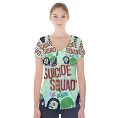 Panic! At The Disco Suicide Squad The Album Short Sleeve Front Detail Top by Onesevenart