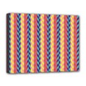 Colorful Chevron Retro Pattern Canvas 14  x 11  View1