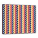 Colorful Chevron Retro Pattern Canvas 24  x 20  View1