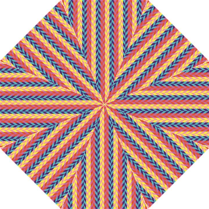 Colorful Chevron Retro Pattern Folding Umbrellas