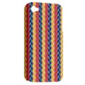 Colorful Chevron Retro Pattern Apple iPhone 4/4S Hardshell Case (PC+Silicone) View2