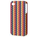 Colorful Chevron Retro Pattern Apple iPhone 4/4S Hardshell Case (PC+Silicone) View3