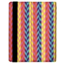 Colorful Chevron Retro Pattern Samsung Galaxy Tab 10.1  P7500 Flip Case View2