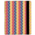 Colorful Chevron Retro Pattern Samsung Galaxy Tab 10.1  P7500 Flip Case View3