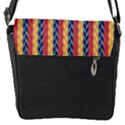 Colorful Chevron Retro Pattern Flap Messenger Bag (S) View1