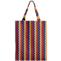 Colorful Chevron Retro Pattern Zipper Classic Tote Bag View1