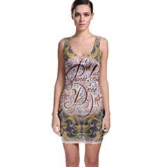 Panic! At The Disco Sleeveless Bodycon Dress by Onesevenart