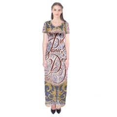 Panic! At The Disco Short Sleeve Maxi Dress by Onesevenart