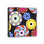 Colorful Retro Circular Pattern Mini Canvas 4  x 4