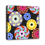 Colorful Retro Circular Pattern Mini Canvas 6  x 6