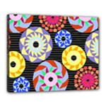 Colorful Retro Circular Pattern Canvas 20  x 16
