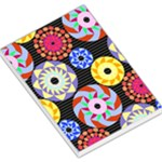 Colorful Retro Circular Pattern Large Memo Pads