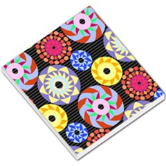 Colorful Retro Circular Pattern Small Memo Pads by DanaeStudio