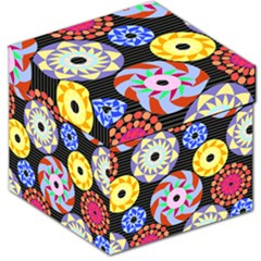 Colorful Retro Circular Pattern Storage Stool 12   by DanaeStudio