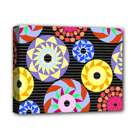 Colorful Retro Circular Pattern Deluxe Canvas 14  X 11
