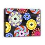 Colorful Retro Circular Pattern Deluxe Canvas 16  x 12