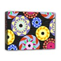 Colorful Retro Circular Pattern Deluxe Canvas 16  x 12   View1