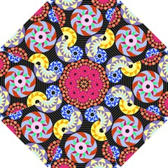 Colorful Retro Circular Pattern Golf Umbrellas