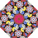 Colorful Retro Circular Pattern Golf Umbrellas View1