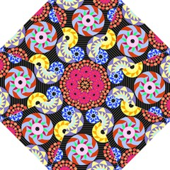 Colorful Retro Circular Pattern Hook Handle Umbrellas (medium) by DanaeStudio