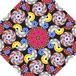 Colorful Retro Circular Pattern Hook Handle Umbrellas (Large)