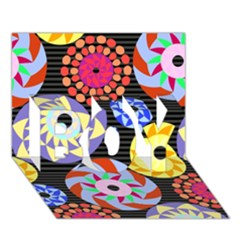 Colorful Retro Circular Pattern Boy 3d Greeting Card (7x5)