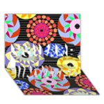 Colorful Retro Circular Pattern YOU ARE INVITED 3D Greeting Card (7x5)