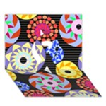 Colorful Retro Circular Pattern Ribbon 3D Greeting Card (7x5)