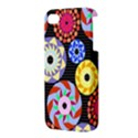 Colorful Retro Circular Pattern Apple iPhone 4/4S Premium Hardshell Case View3