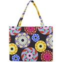 Colorful Retro Circular Pattern Mini Tote Bag View1