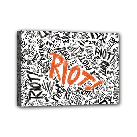 Paramore Is An American Rock Band Mini Canvas 7  X 5  by Onesevenart