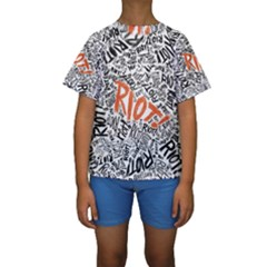 Paramore Is An American Rock Band Kids  Short Sleeve Swimwear by Onesevenart