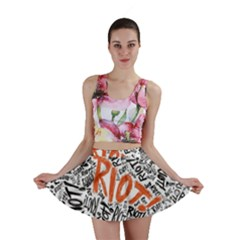 Paramore Is An American Rock Band Mini Skirt by Onesevenart