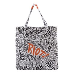Paramore Is An American Rock Band Grocery Tote Bag by Onesevenart