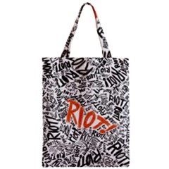 Paramore Is An American Rock Band Zipper Classic Tote Bag by Onesevenart