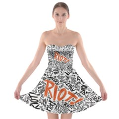 Paramore Is An American Rock Band Strapless Bra Top Dress by Onesevenart