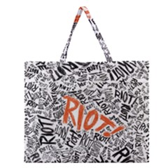 Paramore Is An American Rock Band Zipper Large Tote Bag by Onesevenart