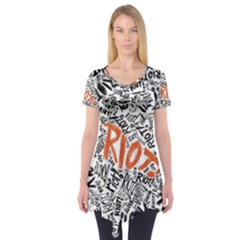 Paramore Is An American Rock Band Short Sleeve Tunic  by Onesevenart